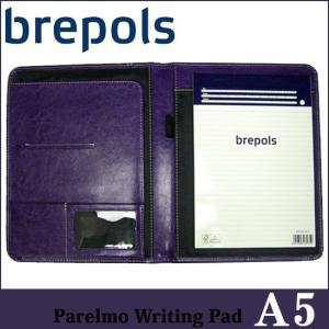 BREPOLS ブレポルス パレルモ ライティングパッド A5 パープル レポートパッドホルダー レポートカバー|soprano