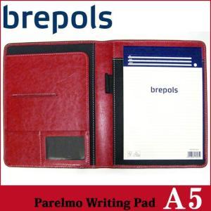 BREPOLS ブレポルス パレルモ ライティングパッド A5 レッド レポートパッドホルダー レポートカバー|soprano