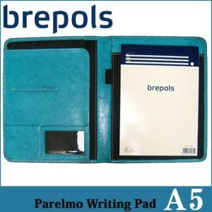 BREPOLS ブレポルス パレルモ ライティングパッド A5 ターコイズ レポートパッドホルダー レポートカバー|soprano