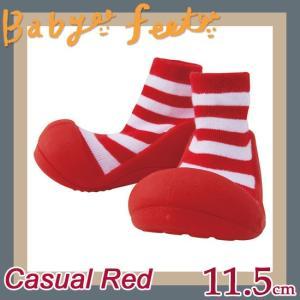 ベビーフィート baby feet ベビーシューズ カジュアルレッド 11.5cm|soprano