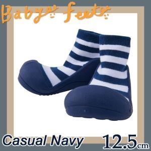 ベビーフィート baby feet ベビーシューズ カジュアルネイビー 12.5cm|soprano