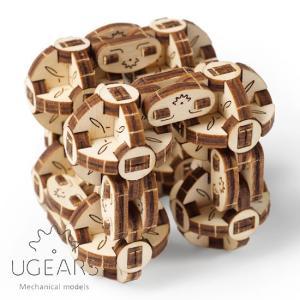 Ugears ユーギアーズ 木製組立立体パズル フレキシキューバース soprano