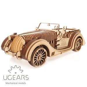 Ugears ユーギアーズ 木製組立立体パズル ロードスター VM-01 soprano
