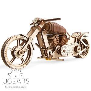 Ugears ユーギアーズ 木製組立立体パズル バイク VM-02 soprano