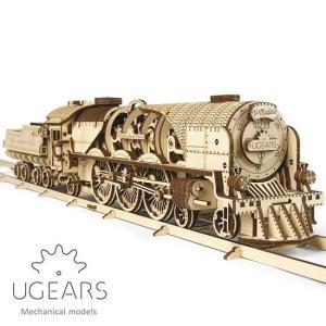 Ugears ユーギアーズ 木製組立立体パズル V Express 蒸気機関車 soprano