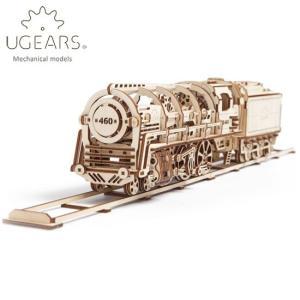 Ugears ユーギアーズ  木製組立立体パズル 蒸気機関車 soprano