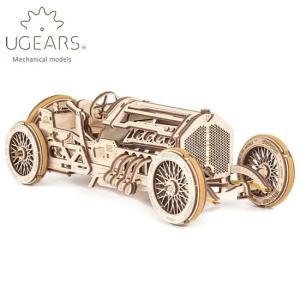 Ugears ユーギアーズ  木製組立立体パズル U-9 グランドプリックスカー soprano