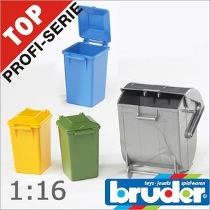 Bruder(ブルーダー)社 ProSeries(プロシリーズ) 02607 ゴミ箱セット 1/16 soprano