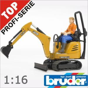 Bruder(ブルーダー)社 Pro Series (プロシリーズ) 62002 JCB マイクロショベル&作業員 1/16 soprano