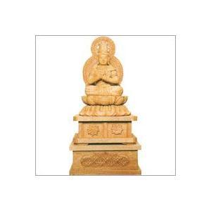 小型仏壇用 白木のご本尊 座仏像 大日如来 (下台付) soprano