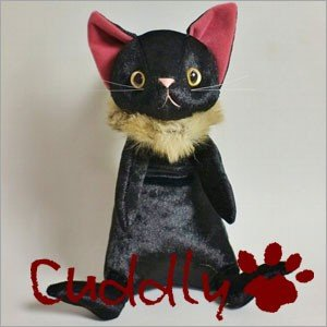 <Cuddly>カドリー こだわりのぬいぐるみ 仔ネコのヌイグルミ ナルシス ミッドナイト|soprano