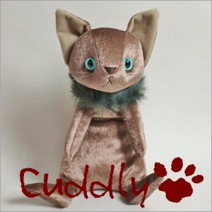 <Cuddly>カドリー こだわりのぬいぐるみ 仔ネコのヌイグルミ ナルシス ミルクティー|soprano