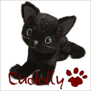 <Cuddly>カドリー 仔ネコのヌイグルミ ドロップス クロ (Dorops Kuro) ブルーアイ|soprano