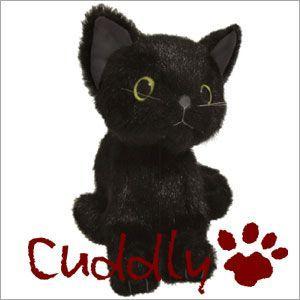 <Cuddly>カドリー 仔ネコのヌイグルミ ドロップス クロ (Dorops Kuro) イエローアイ|soprano