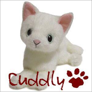 <Cuddly>カドリー 仔ネコのヌイグルミ ドロップス シロ (Dorops Shiro) ブルーアイ|soprano