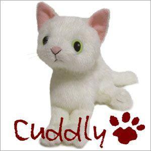 <Cuddly>カドリー 仔ネコのヌイグルミ ドロップス シロ (Dorops Shiro) イエローアイ|soprano