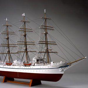 木製模型キット <ウッディジョー> 1/160 新日本丸 (帆無し・停泊)|soprano