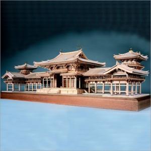 木製模型キット <ウッディジョー> 1/75 平等院 鳳凰堂|soprano