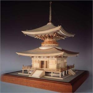 木製模型キット <ウッディジョー> 1/50 石山寺 多宝塔|soprano