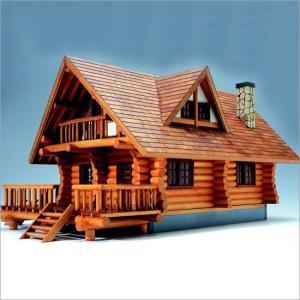 木製模型キット <ウッディジョー> 1/24 ログハウス|soprano