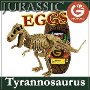 ●ジオワールド ジュラシックエッグ「ティラノサウルス」は、恐竜博物館で人気のティラノサウルスの恐竜骨...