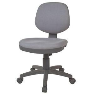 [少しわけあり] 布張りオフィスチェア グレー色 ローバック 標準タイプ 肘無 グレー色 W455×D545×H825〜930 SH460〜565 GD-035GL|sora-ichiban