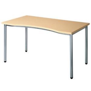 大特価 70%OFF ラウンド形状天板 ワークテーブル フレッシュメープル色 W1200×D700×H700 GD-073 送料無料|sora-ichiban