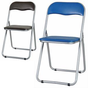 パイプイス  ブルー色 ブラウン色 折りたたみ椅子 オフィス家具|sora-ichiban