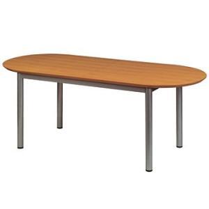 多目的テーブル 天板楕円型 W1800×D750×H700 GD-246 送料無料|sora-ichiban