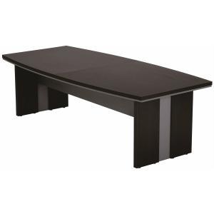 ボート型 会議テーブル 幅2400mm スタイリッシュ ミーティングテーブル 会議用テーブル オフィス家具|sora-ichiban