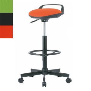 ハイスツールチェア 脚リング・キャスター付き W535×D535×H710〜840 ミーティングチェア ハイチェア スツール 事務椅子 オフィスチェア オフィス家具|sora-ichiban
