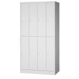 【法人様限定】 日本製 ロッカー 8人用 鍵付き 車上渡し スチール製 オフィス家具 グリーン購入法適合商品|sora-ichiban