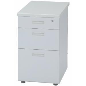 脇机 400 3段 幅400mm 事務机 袖机 400×700mm スチールデスク 袖デスク ホワイト ワークデスク 作業机 PCデスク お客様組立商品|sora-ichiban