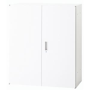 日本製 両開き キャビネット 上置 下置 W900mm×D450mm×H1050mm A4〜B4収納可能 書庫 棚 本棚 キャビネット 収納 ホワイト オフィス 事務所 オフィス家具|sora-ichiban