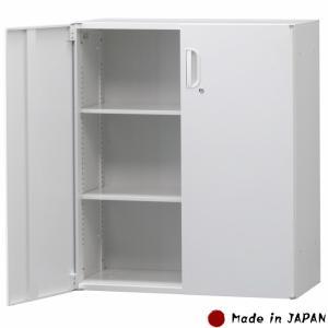 書庫 両開き 下置用 スチール製 W900×D450×H1050mm キャビネット オフィス書庫 収納 スチール書庫 業務用 オフィス家具 完成品 車上渡し 日本製|sora-ichiban