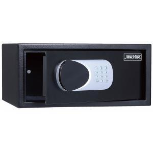 金庫 LEDライト付き テンキータイプ 13kg 幅430×奥行370×高205mm B4サイズ用紙収納 ブラック 金庫 ホテルセーフ 軒先渡し|sora-ichiban