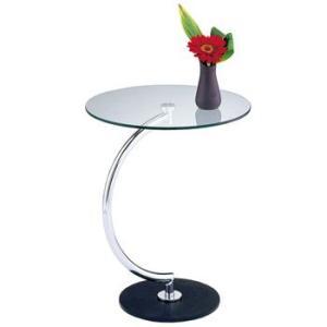 特価ガラス天板 円形サイドテーブル 円周46cmあずま工芸LLT-8514 sora-ichiban