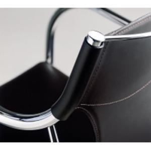 大特価 チェア 肘付 レザー張り EDIT W520×D560×H800 SH450 MBC0002 AbitaStyle 送料無料|sora-ichiban