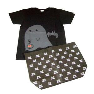 onso9line 音速ライン おばけちゃんTシャツ+ネギオ&ネギコエコバッグ・セット Sサイズ|sora3