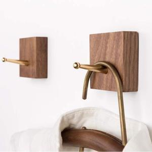 HomeDo 木製フック 強力粘着フック おしゃれフック 壁傷つけない ウォールフック 壁掛けフック 洋服掛け ウォールハンガー 帽子掛け|sorachip3