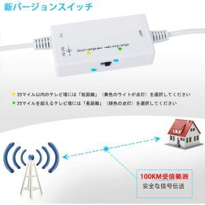 室内アンテナ HDTVアンテナ 100KM受信範囲 信号ブースター付き UHF VHF対応 全種類テレビ対応 5mケーブル (WHITE-1|sorachip3