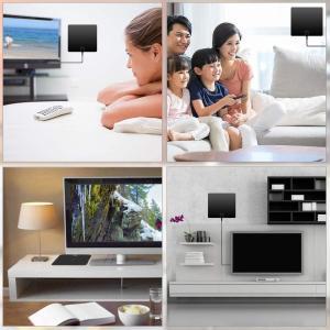 令和2020最新版室内 HD テレビ アンテナ 地デジ ペーパーアンテナ 4K 信号ブースター付き 卓上 TV アンテナ 150km受信範囲|sorachip3
