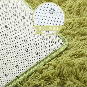 YJ.GWL ラグカーペット 緑 ラグマット2畳 12色選べる 120*160cm ふわふわじゅうたん カーペット 洗える 夏 センターラグ|sorachip3