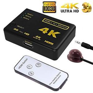 HDMI切替器 分配器 3入力1出力 HDMI セレクター 1080p対応 3D映像 フルHD対応 自動手動切り替え USB給電ケーブル付|sorachip3
