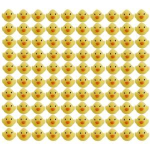 玩具の神様〓 かわいい ピヨピヨ アヒルちゃん 100個 セット お風呂でプカプカ (100匹セット) sorachip3