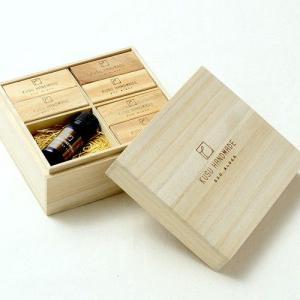 楠の端材で作った防虫アロマブロック エコブロック 18個 プラス オイル10ml 桐箱入り ギフト soranew