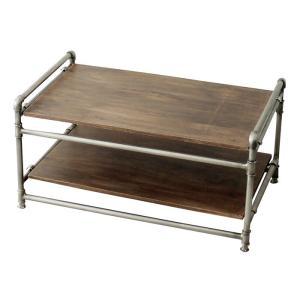 ノスタルジックデザイン 雰囲気のあるおしゃれなガスパイプ&ウッド フォールディング テーブル&ローボード|soranew