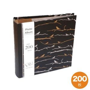 アルバム 大容量 200枚 クラフト素材 書き込み手作り 鳥柄|soranew