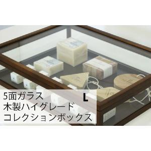 ガラスケース ハイクラス 木製コレクションケース 幅40cm ブラウン soranew