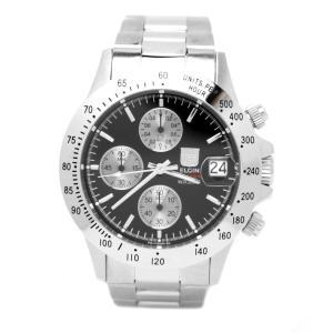 [エルジン]ELGIN 腕時計 クロノグラフ 日本製ムーブメント 200M防水 ブラック FK1184S-B メンズ|soranoshouten